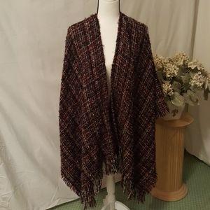 Indigo Soul shawl wrap One Size blk/red/gray